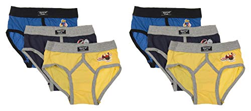 DORA Boys Cotton Cute Lycra Waist Band Y Front Briefs Style-1507 (Pack of 6) Color May Vary (70 cm)