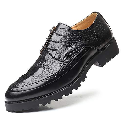 Hombre Negocios Ropa Formal Zapatos de los Hombres Cocodrilo Grano Británico Puntiagudo...