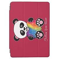RECASO ipad pro 11インチ ケース ipad pro 11 ケース おしゃれ ipad pro 11インチ カバー 11インチipad pro虹 ハート 水彩画 かわいいパンダ