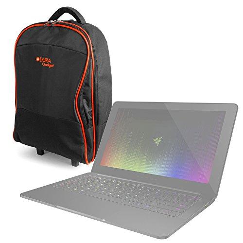 DURAGADGET Maleta de Ruedas para Viajar para Portátil Sager NP8952 Notebook/Samsung Notebook 9 Pro 13.3, 15, Medidas de Equipaje de Mano.