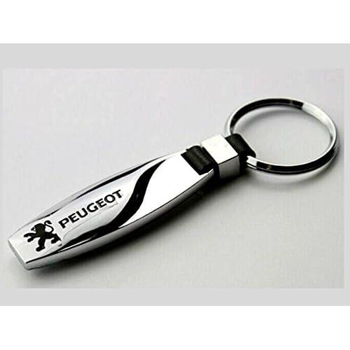 Pug 107 Chrome Alloy Keyring Key Ring Gift fit for Peugeot