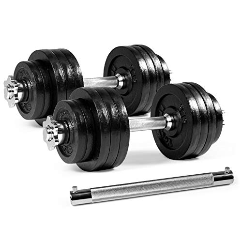 Yes4All Adjustable Dumbbells - 100 lb Dumbbell Weights with Dumbbell Connector