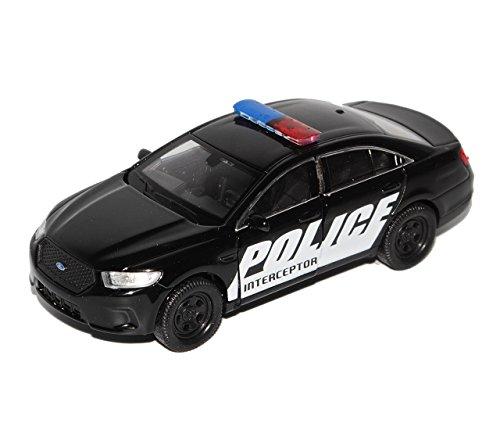 Welly Ford Interceptor Police Polizei USA Schwarz Weiss ca 1/43 1/36-1/46 Modell Auto