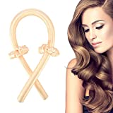Tik Tok Heatless Hair Curlers You Can Sleep In, Soft No Heat Curlers Headband Hair Curling Ribbon For Long Hair, Curl Former Waves Sleep Styler Rods(Yellow)