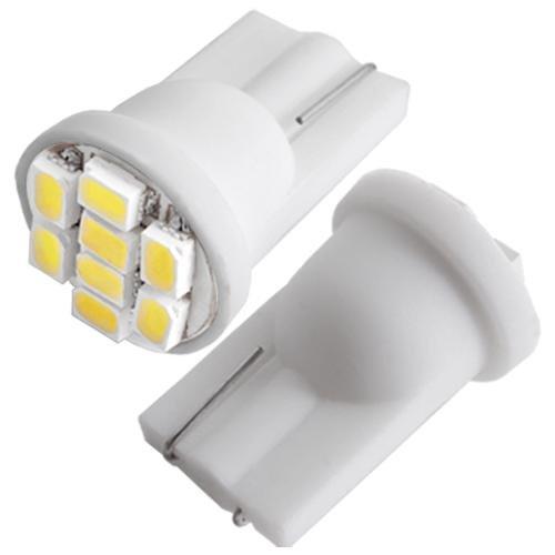 Ecloud Shop® 3 pieces PAIRE T10 LAMPE AMPOULE 8 3020 SMD LED BLANC PR VOITURE