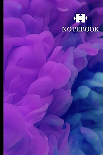 Notebook: Abstract Aquatic Art Background Chemical Cloud Writing Journal 6x9 Lined Paper