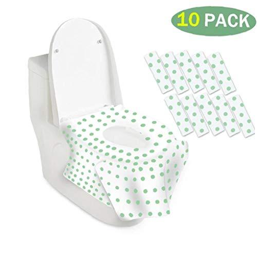 Bomcomi Portable Toilettes /à Usage Unique Seat Cover Mat s/écurit/é Toilettes Coussin de si/ège Voyage//Camping Salle de Bain Accessoires 50pcs