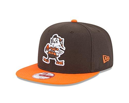 New Era NFL Historic Baycik Snap 9FIFTY Original Fit Cap, Brown/Orange, One Size