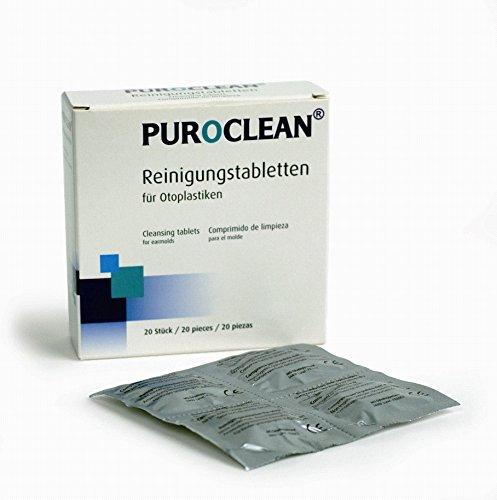PUROCLEAN® Reinigungstabletten für Otoplastiken von Hörgeräten