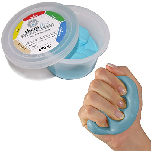Theraflex Therapie-Knetmasse super strong, 450 g, blau
