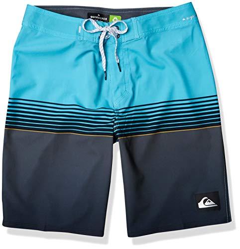 Quiksilver Men's Slab 20 Inch Length Stretch Boardshort Swim Short, Pacific Blue, 31
