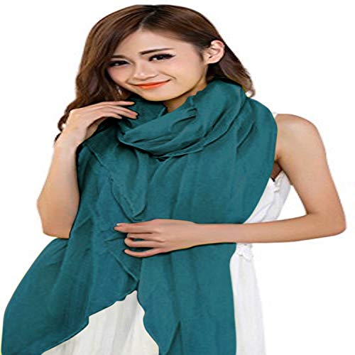Teal Green Veil Shawl Solid Colour Design Voile Scarf Wrap Stole Throw Face Cover Pashmina CJ Apparel NEW
