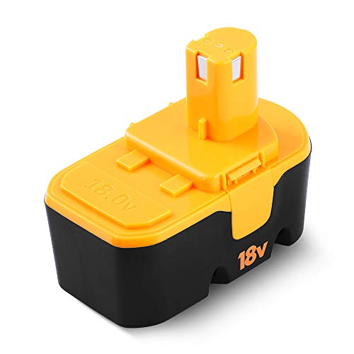 Replacement for Ryobi 18v Ni-MH P100 Battery Compatible for Ryobi One+ Plus P101 ABP1801 ABP1803 BPP1820 130224007 1322401 1400672 13022 130255004 130224054 130224028 Cordless Power Tools Amsbat