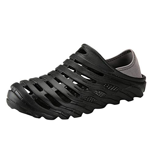 Zoccoli Infradito Clogs Ciabatte Sandali Sandal Sandali Ciabatte Scarpe da Bagno Pantofole (40 EU,Nero)
