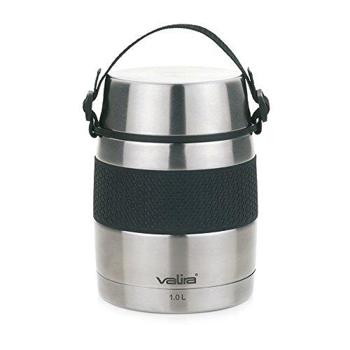Valira VAN6615 Inoxterm - Termo para sólidos con 2 contenedores interiores, Gris,...