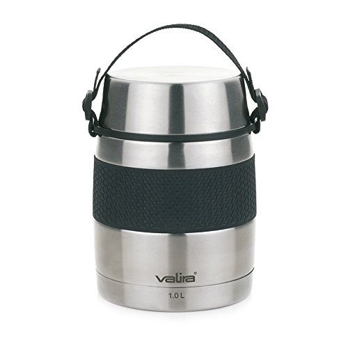 Valira VAN6615 Inoxterm  - Termo para sólidos con 2 contenedores interiores, Gris, 1 L