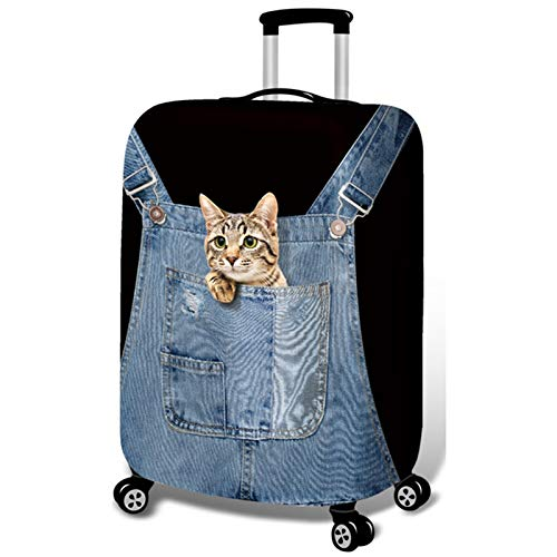 DATUI Cat Elasticity Print Trolley Case Protective Cover Travel Luggage Protector Suitcase Cover Washable Dust Cover (Size : M)
