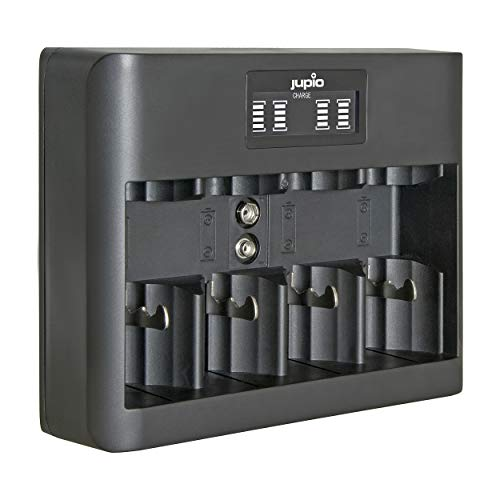 Jupio Cargador USB Todo en uno (AA/AAA/C/D/9 V) LCD.