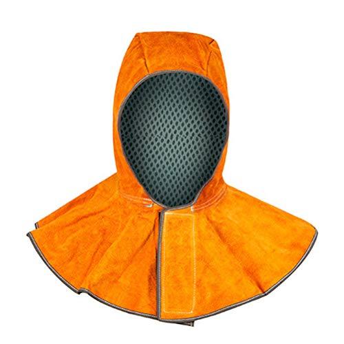 LIOOBO Capucha Protectora Casco para Soldar de Cuero Resistente al Calor Tapa del Cuello Cubierta (Tamaño Libre)