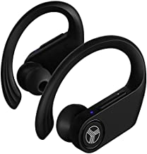 TREBLAB X3-Pro - Wireless Earbuds with Earhooks - 45H Playtime, aptX, IPX7 Waterproof Earphones for Running & Workout - Sport Bluetooth Headphones with Charging case - Built-in Microphone - Black
