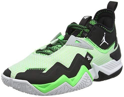 Nike Jordan Westbrook One Take, Zapatillas de bsquetbol, White White Black Rage Green, 39 EU