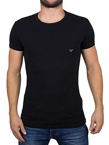 Emporio Armani Herren Logo-T-Shirt, Schwarz, Medium