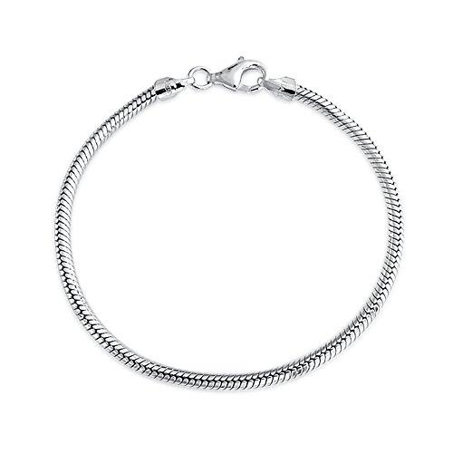 Cadena Serpiente Estrella Europeo Cordones Pulsera Mujer Adolescente Plata Esterlina 925 Fuerte Broche Garra Langosta