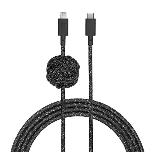 Native Union Cable Night - Cable USB-C a Lightning Reforzado y Ultrarresistente...