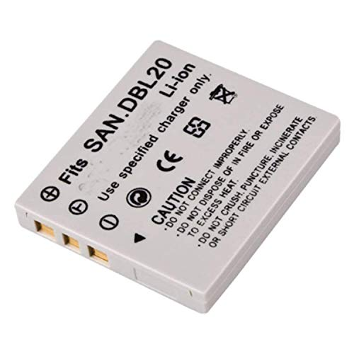 Amsahr Digital Replacement Camera and Camcorder Battery for Sanyo DB-L20, XACTI DMX-C1