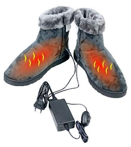 ObboMed® MF-2620M, 12V, 20W, Karbonfaser beheizbare Schuhe (M: bis Schuhgröße 41), Heizschuhe, Infrarot Schuhe, Fußwärmer, Kalte Füße Aufwärmer, Wärmeschuhe, Winterhausschuhe