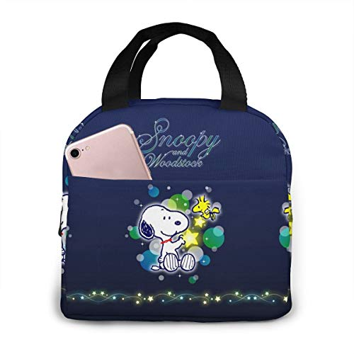 OAbear Snoopy Lunch Bag Lunch Tote Bag for Women Men Insulated Water-resistant Lunch Bags for Picnic/Boating/Beach/Fishing/Work