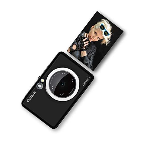 Canon Zoemini S Sofortbildkamera Mini Fotodrucker digital 8 MP (Sucher, Ringblitz/ LED Blitz, Micro SD Kartenslot, Print App, ZINK-Druck tintenfrei, Sofortdruck, Fernauslöser) matte black