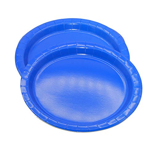 Ayush party Supplies Party Tableware Paper Plates for Weddings, Anniversary, Birthday , Multipurpose Occasions is Party Disposable plates,Pack of 16(9inch/22cm) (Royal Blue)