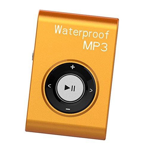 F Fityle Sport MP3 Player Digital Musikplayer zum Laufen - Orange 4g