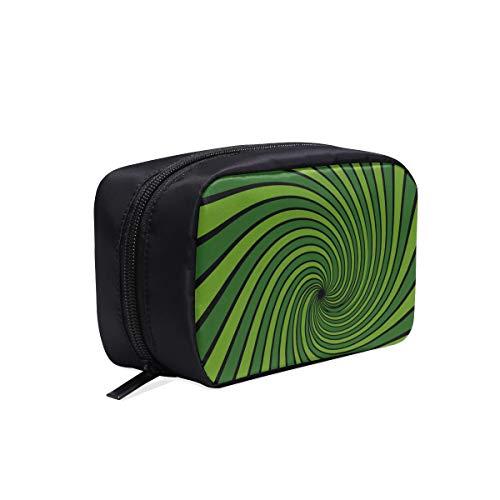 Bolso organizador cosmético Vigas abstractas Rayos radiales con estampado verde Bolso cosmético para viajes Bolsas de viaje de nylon para mujeres Bolsas de viaje Bolsas de cosméticos Estuche multifun
