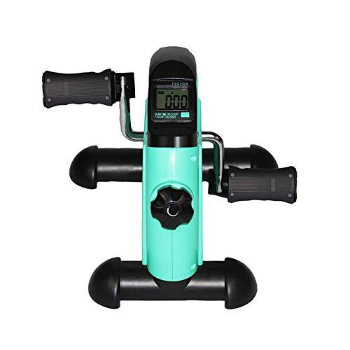 UIZSDIUZ Pedal ejercitador de Brazo y Pierna Rehabilitación, Bicicleta estática Ajustable Pantalla de Resistencia con el LCD, se Adapta fácilmente Debajo de un Escritorio o Mesa de Deportes
