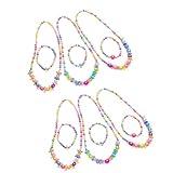 Toyvian 3 Sätze Bunte Perlenkette Armband Karneval Perlen Halsketten Partykostüme Zubehör für...