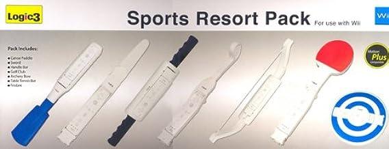 Logic3 Wii Sports Resort Pack - cajas de video juegos y accesorios (Blanco) White: Amazon.es: Videojuegos