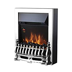 2 HEATING OPTIONS – choose from 1000W and 2000W of power and get your living room heated effectively MODERN INSET STYLE – fit the heater neatly against the wall and help save vital space in your home CHROME FINISH – a stylish chrome coating is a perf...