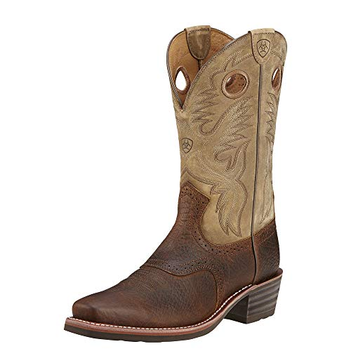 Ariat Men's Heritage Roughstock Western Cowboy Boot, Earth/Brown Bomber, 13 EE