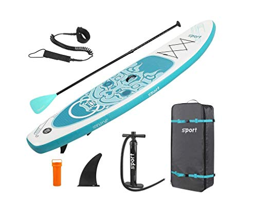 L-CAM Graffiti Inflable Paddle Board sorbo, Tablero de Paleta Principiante Stand-Up Tabla de Surf