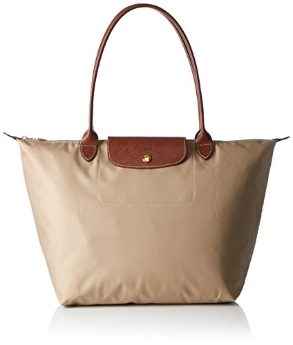 Longchamp Damen Le Pliage Large Tote Bag, Beige (Beige), 19x30x31 cm