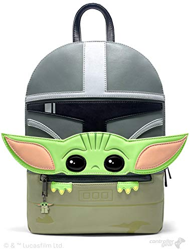 Controller Gear Baby Yoda Backpack Gifts- Official Disney Star Wars: The Mandalorian-Mandalorian and the Child. Mid-Size, 2 Laptop + Tablet Sleeves, Bag, Purse - Not Machine Specific