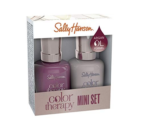 Sally Hansen Color Therapy Nagellack mini Duo Pack Farbe 380 + Farbe 492 Ohm My Magenta + Rose Diamond, 10 ml