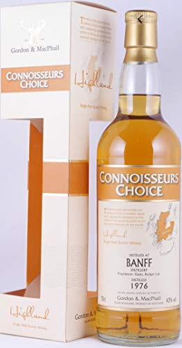Banff 1976 32 Years Gordon & MacPhail Connoisseurs Choice Refill Sherry Casks Highland Single Malt Scotch Whisky 43,0% Vol. - seltene Abfüllung aus der closed Distillery Banff!