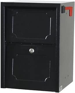 dVault Weekend Away Vault DVJR0060 Locking Post/Column Mount Mailbox (Black)