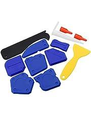 12 Stuks Silicon Sealer Tool Kit Grout Remover Caulking Tool Kit met Plastic Scraper Caulk Nozzle en Caulk Caps voor Keuken Badkamer Kamer Vloer Hoek