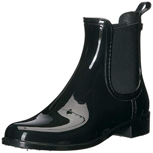 ALDO Women's Brilasen Chelsea Ankle Rain Boot, Black Shiny, 10