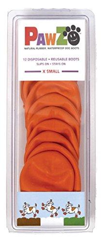 Hundestiefel, wiederverwendbar, wasserdicht, 12 Stück, Farbe: Orange, Größe: XS, 2 Stück