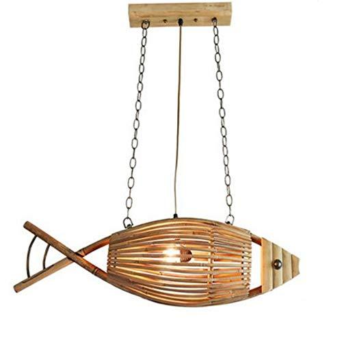 ZSAIMD Vintage Fish Lámparas, retro Industrial Winds barra de hierro Loft Cafe Estilo Ropa de segunda mano de techo Lámparas de luz de sala de estar, bar, cafetería, Comedor Jaulas Edison